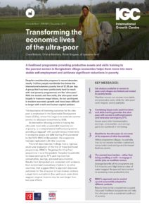 Transforming the Economic Lives of the Ultra Poor